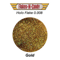 METAL FLAKE GLITTER (0.008) 30G  HOLOGRAM GOLD