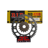 Kawasaki KLX140L Big Wheel (08-19) D.I.D Chain + JT Front & Rear Sprockets Kit