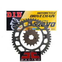 Kawasaki KX125 (03-08) D.I.D Chain + JT Front & Rear Alloy Sprockets Kit