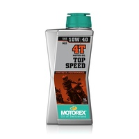 Motorex Top Speed Full Synthetic 4 Stroke 10W40 Engine Oil 1L