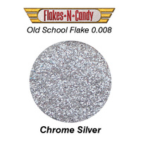 METAL FLAKE GLITTER (0.008) 30G CHROME SILVER