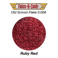 METAL FLAKE GLITTER (0.008) CUSTOM PAINT METAL FLAKES 30G RUBY RED