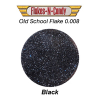 METAL FLAKE GLITTER (0.008) 30G BLACK