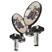 Oxford Bar End Mirrors Motorcycle Bike Mirrors BLK