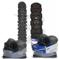 IRC Knobby 70/100-19 Front & 90/100-16 Rear Knobby Tyres & Tubes Set