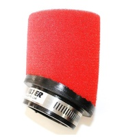 Unifilter 50mm Angle Inlet Air Filter POD RED