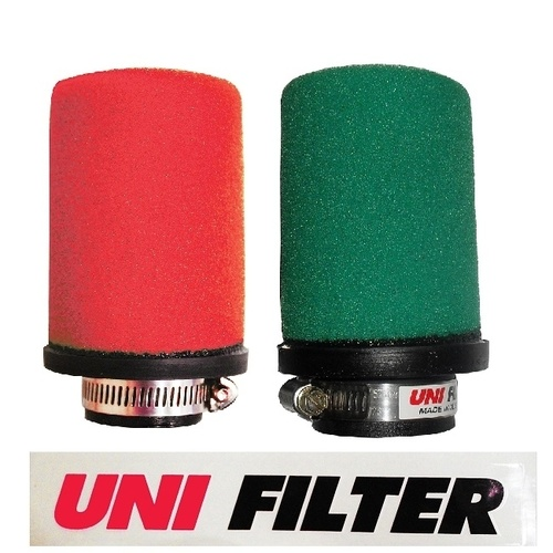 UNI FILTER 60mm Straight Inlet POD Air Filter Green Each